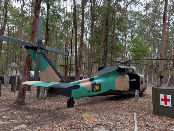 Black Hawk in the Tropic Thunder Game Zone