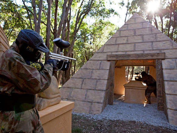 Attacking the Delta Force Paintball Appin Tomb Raider Pyramid