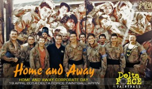 Home and Away Corporate Day at Delta Force Paintball Appin